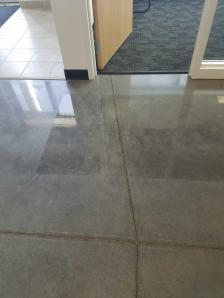 concrete office floor BEFORE cleaning