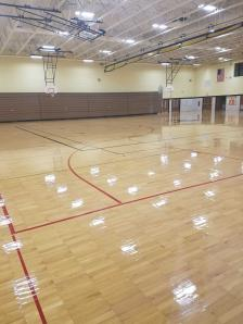 gym floor refinishing by Exress Floor Care | Madison WI